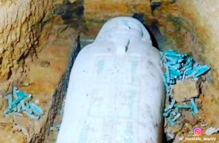 Sarcófagos en Saqqara, Egipto