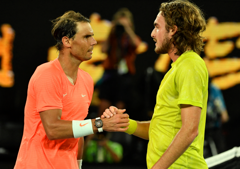 Rafael Nadal perdió frente a Stefanos Tsitsipas en cuartos de final del Abierto de Australia.