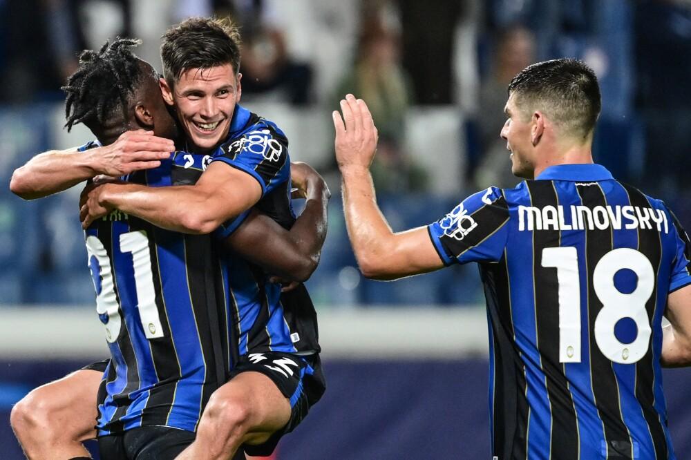 Celebración de Atalanta tras su triunfo sobre Young Boys