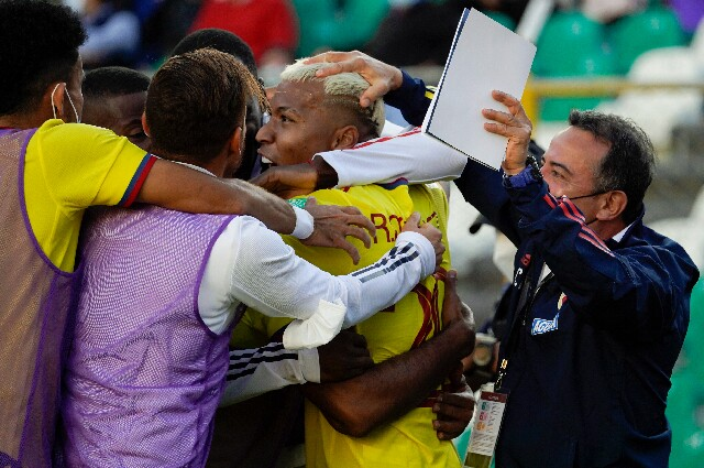 Celebración de la Selección Colombia, en Eliminatorias