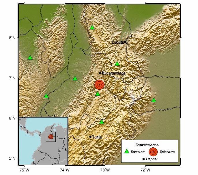 temblor en Colombia, en la mesa de lossantos