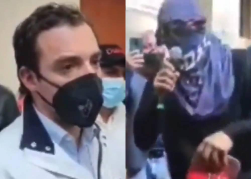 Luis Ernesto Gómez soportó insultos de encapuchado