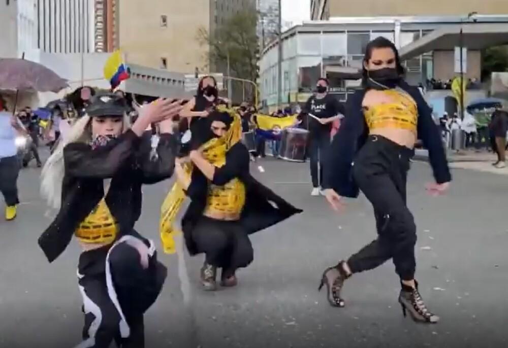 Bailarinas de Transmilenio
