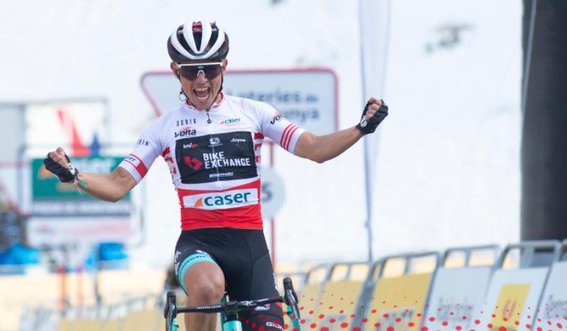 Esteban Chaves fue el ganador de la etapa 4 de la Vuelta a Cataluña.