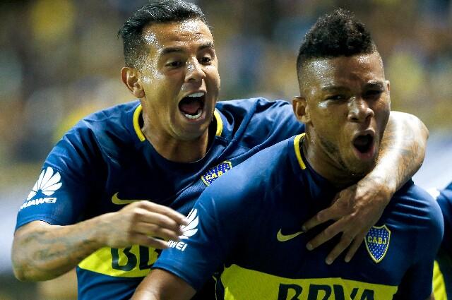 Edwin Cardona y Frank Fabra, en Boca Juniors