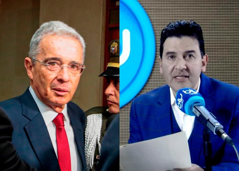 366120_Álvaro Uribe y Néstor Morales // Fotos: AFP, BLU Radio