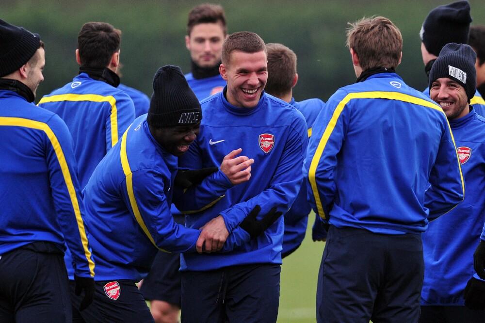 Emmanuel Frimpong y Lukas Podolski
