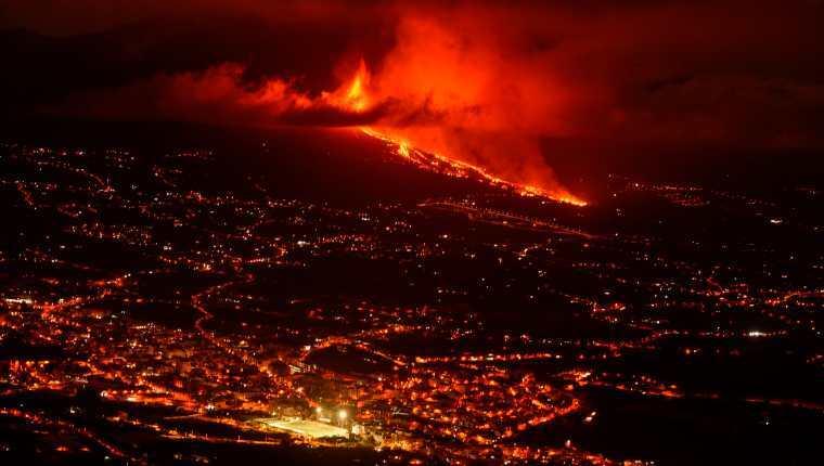 Erupción volcán España