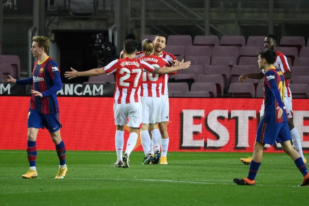 Gol Athletic Bilbao vs Barcelona