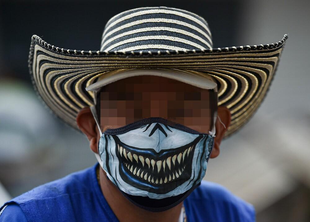 362534_Hombre con tapabocas // Foto: AFP, imagen de referencia