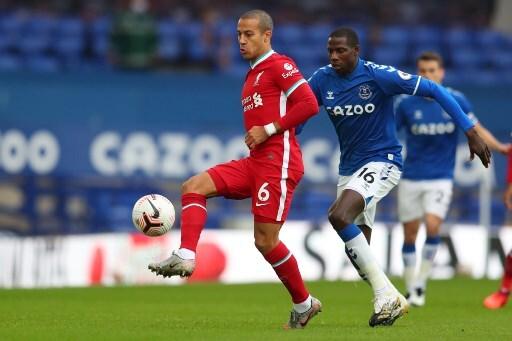 Thiago Alcántara Everton vs Liverpool