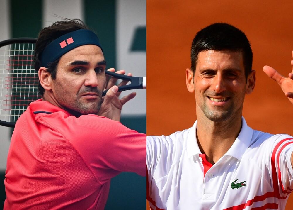 Federer y Djokovic Foto AFP.jpg