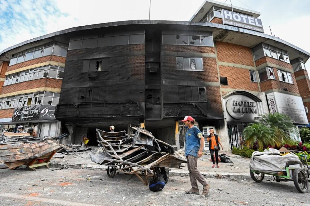 Daños en el Hotel La Luna por protestas en Cali.jpeg
