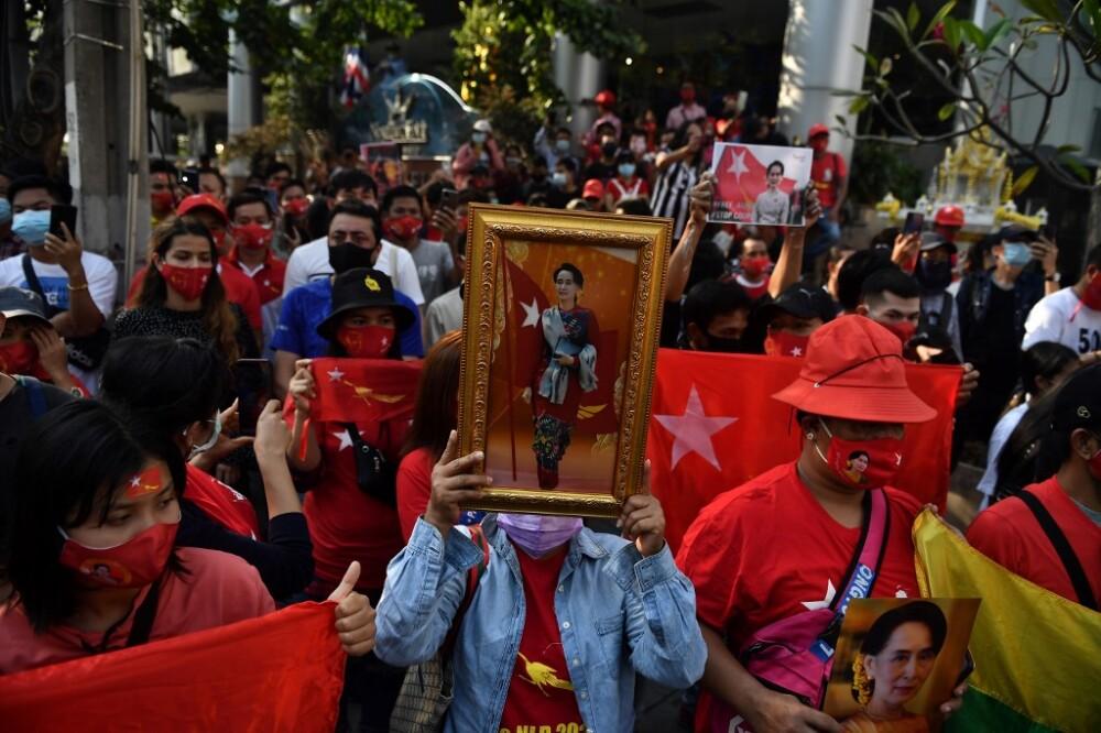 Protestas por golpe de estado en Birmania