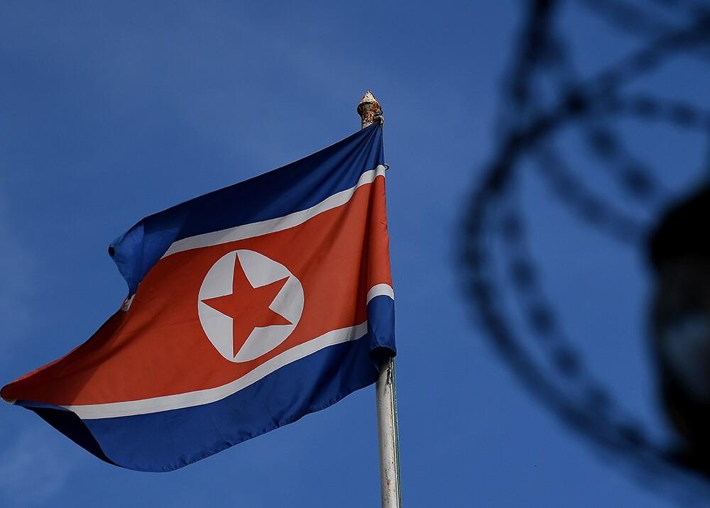 281592_BLU Radio, Bandera de Corea del Norte - Foto: AFP
