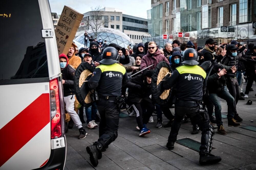 Protestas en Holanda, enero de 2021