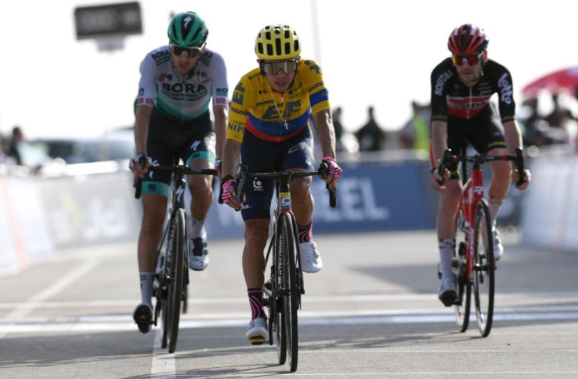 Sergio Higuita fue tercero en la etapa 3 del UAE Tour