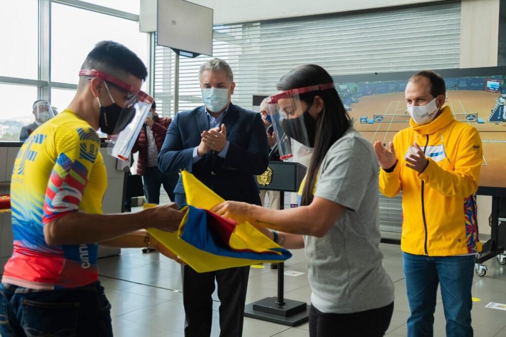 371598_Duque despide a deportistas colombianos // Foto: Presidencia