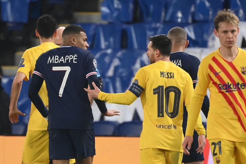 Mbappé y Messi