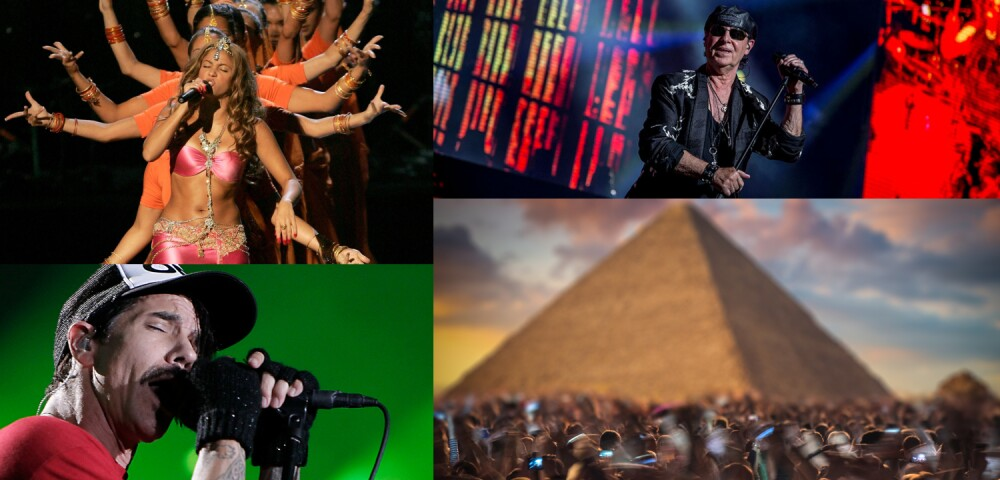 648958_GETTY IMAGES | Shakira: by Scott Gries and Red Hot Chili Peppers by Buda Mendes | Scorpions: Shock
