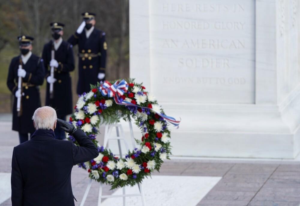 Joe Biden en Arlington