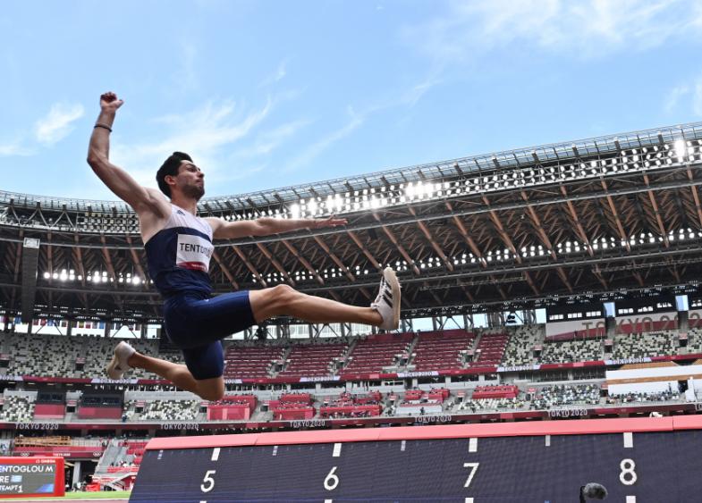 Miltiadis Tentoglou ganó el oro en el salto largo de los Juegos Olímpicos Tokio 2020.
