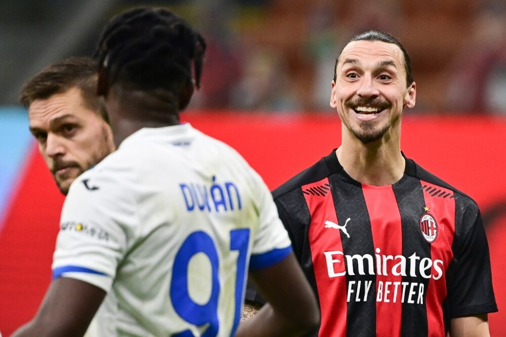 Duván Zapata y Zlatan Ibrahimovic