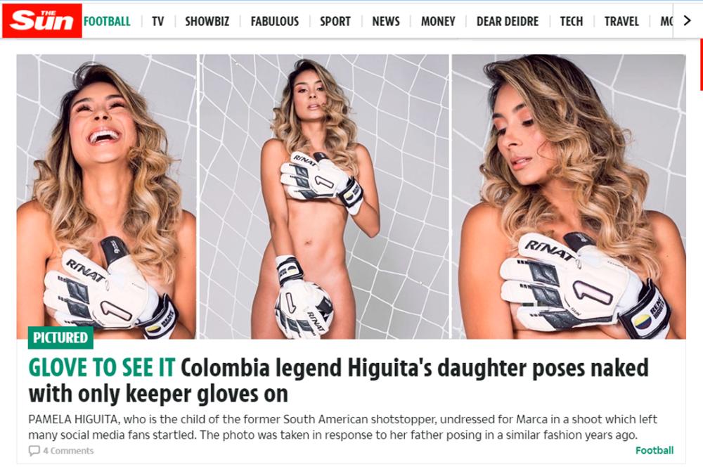 Pamela Higuita en 'The Sun'. Archivo.png