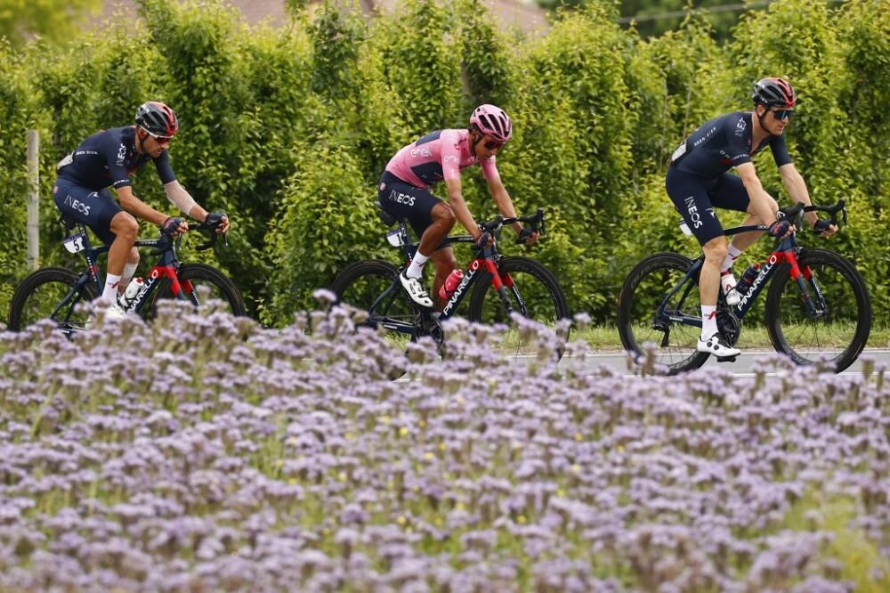 Egan Bernal en la etapa 13 del Giro de Italia