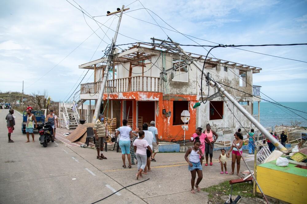destruccion en san andres y providencia por huracan iota.