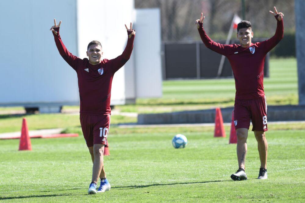 Juan Fernando Quintero y Jorge Carrascal, River Plate
