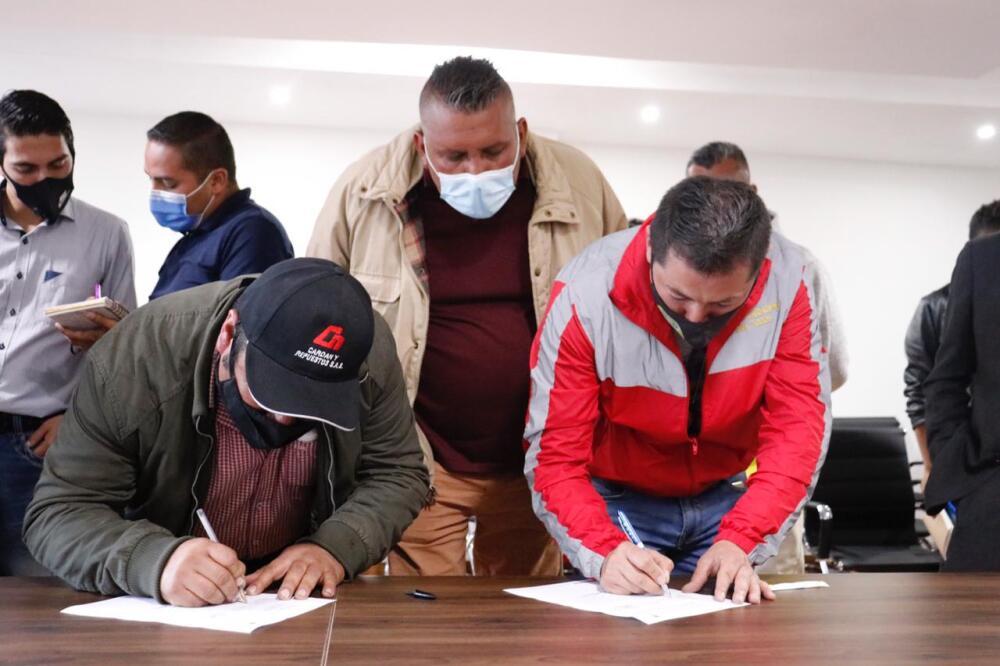 Transportadores de Soacha y Alcaldía llegan a acuerdos para levantar los bloqueos. Foto suministrada.jpeg