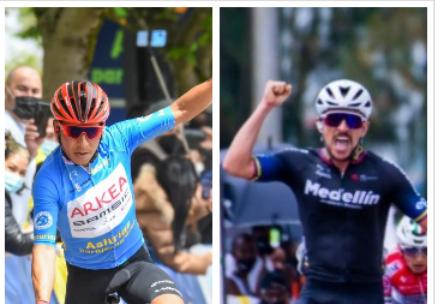 Nairo Quintana y Brayan Sánchez son dos de los 13 colombianos que han celebrado en lo que va 2021.