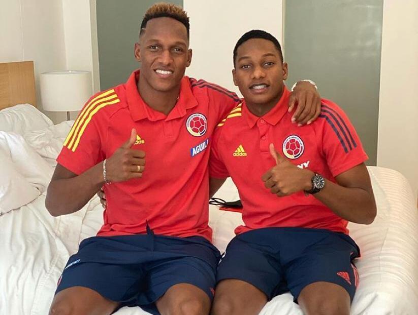 Yerry Mina y su hermano Juan José