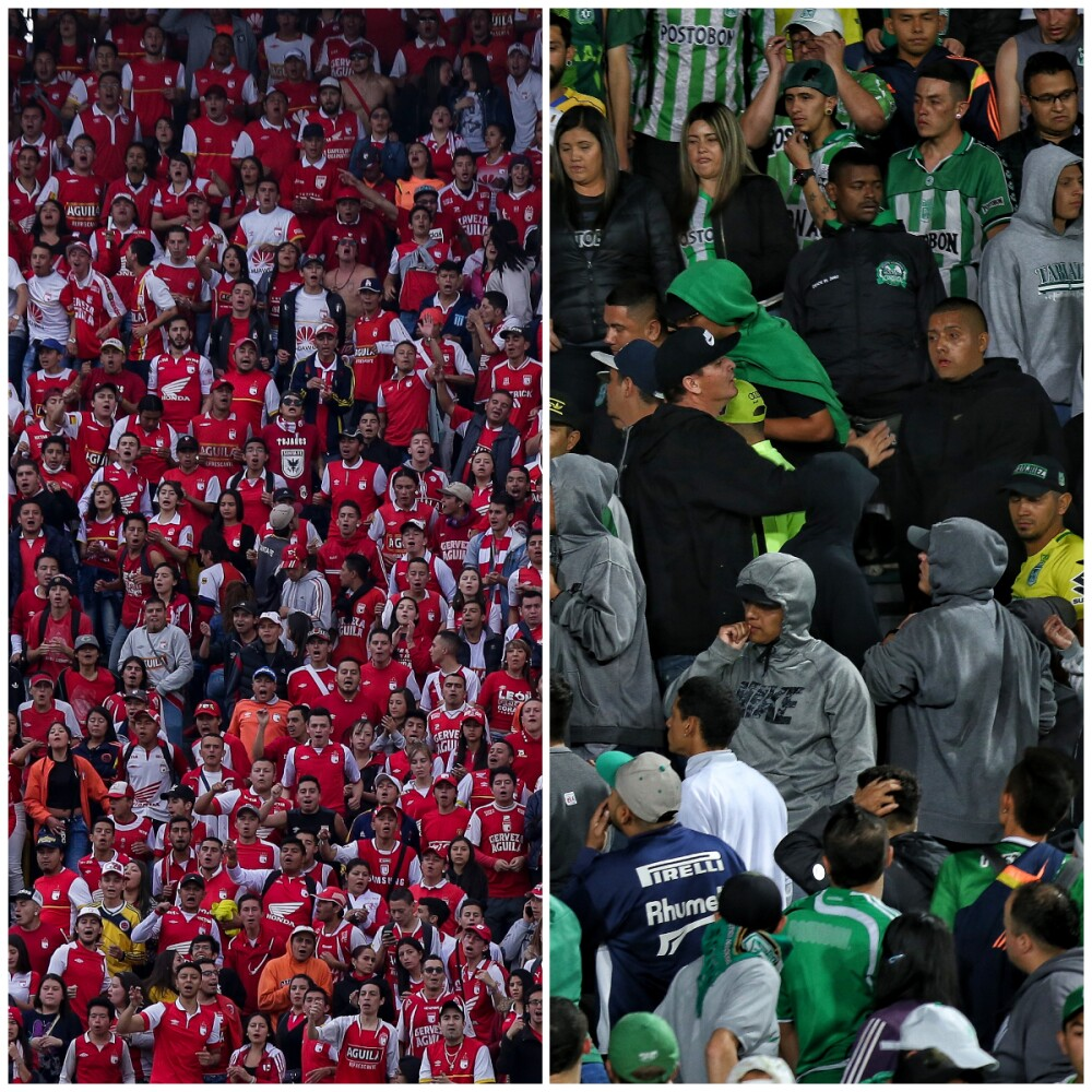 Santa Fe vs Nacional hinchas