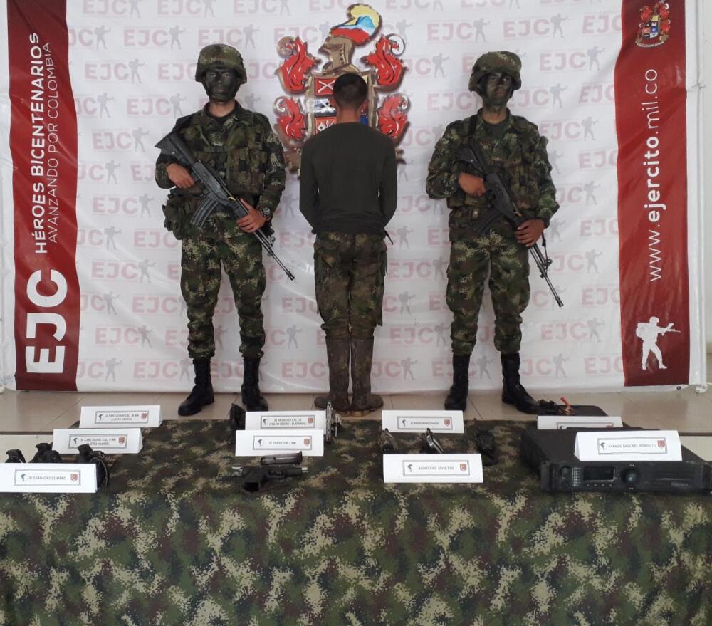 336552_BLU Radio/ Capturado por reclutamiento de menor de edad. Foto Ejército Nacional