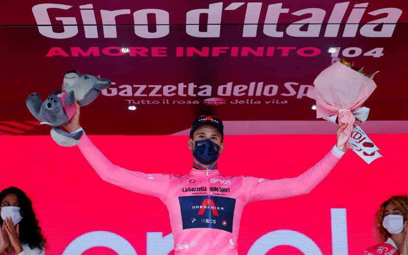 Filippo Ganna es el primer líder del Giro de Italia 2021.