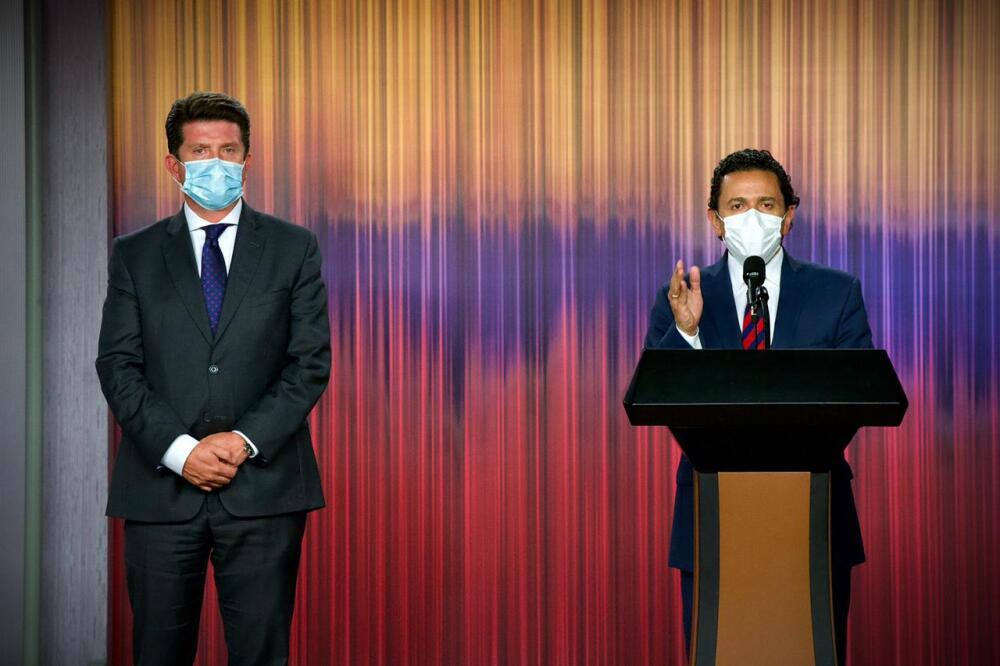 Diego Molano y Miguel Ceballos. Foto Presidencia.jpeg
