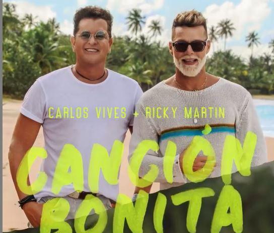 Ricky Martin y Carlos Vives  con su nuevo tema Canción Bonita.JPG