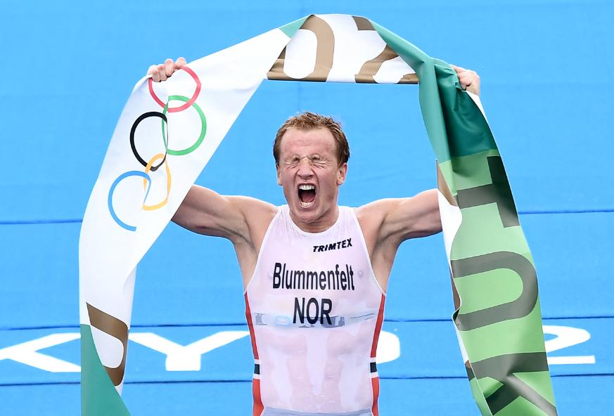 Kristian Blummenfelt logró el oro en el triatlón de los Juegos Olímpicos de Tokio 2020.