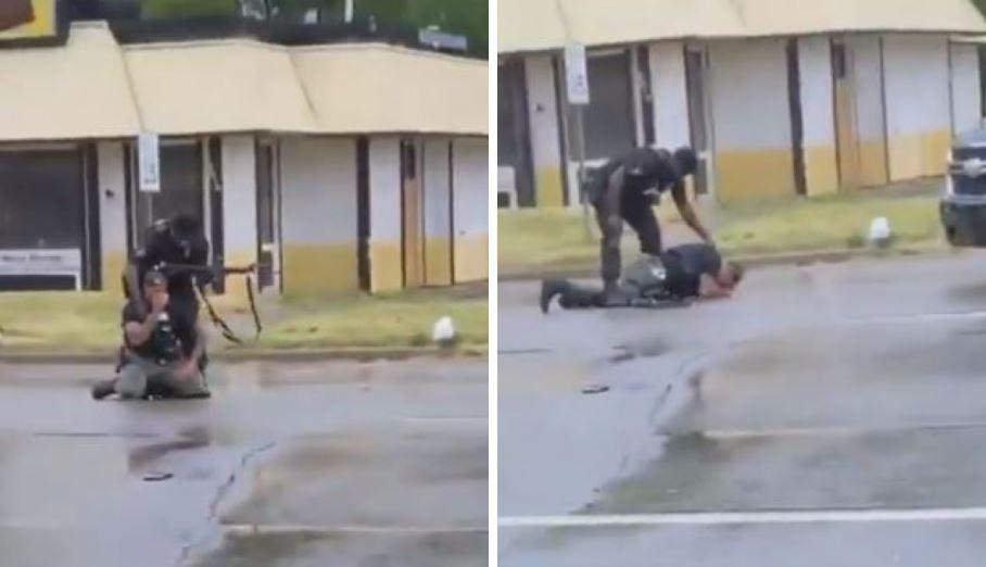 policia llora tras matar a joven en Estados Unidos
