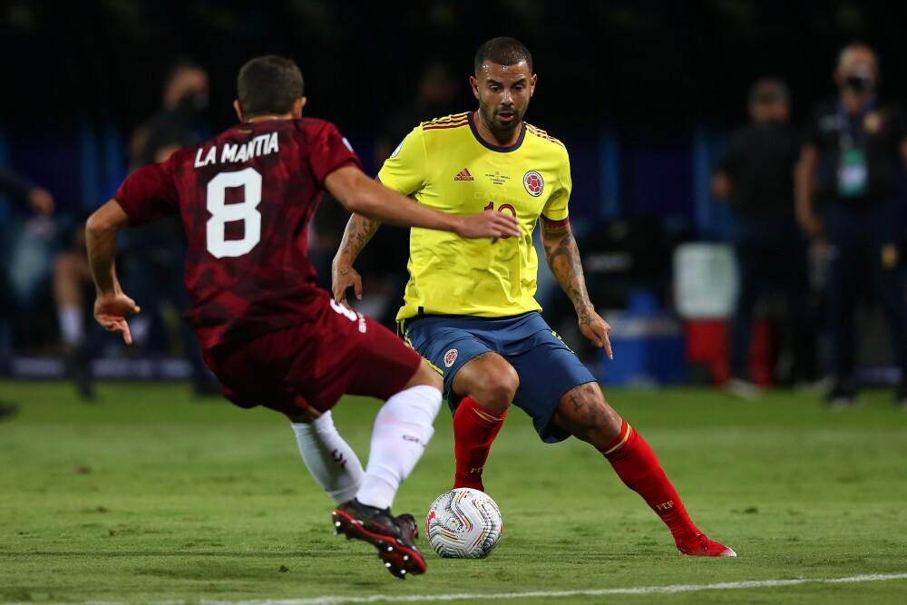 Edwin Cardona, en Colombia vs. Venezuela