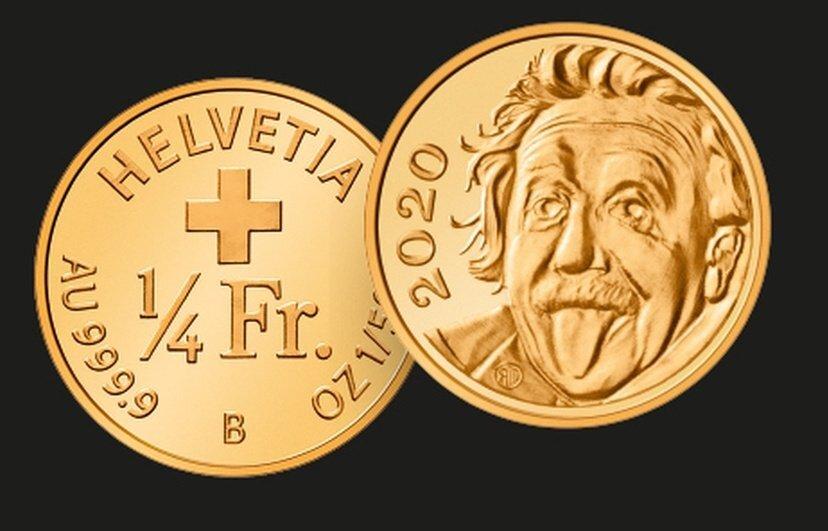 Moneda con imagen de Albert Eintein