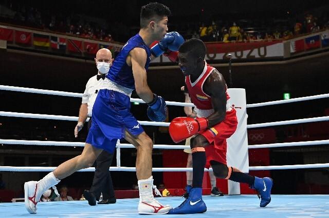 Yuberjen Martínez, en boxeo de los Juegos Olímpicos de Tokio 2020