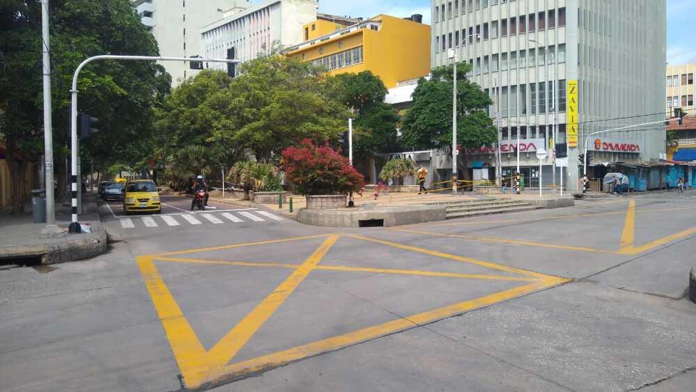 369830_Centro de Barranquilla durante toque de queda. Foto: Cortesía