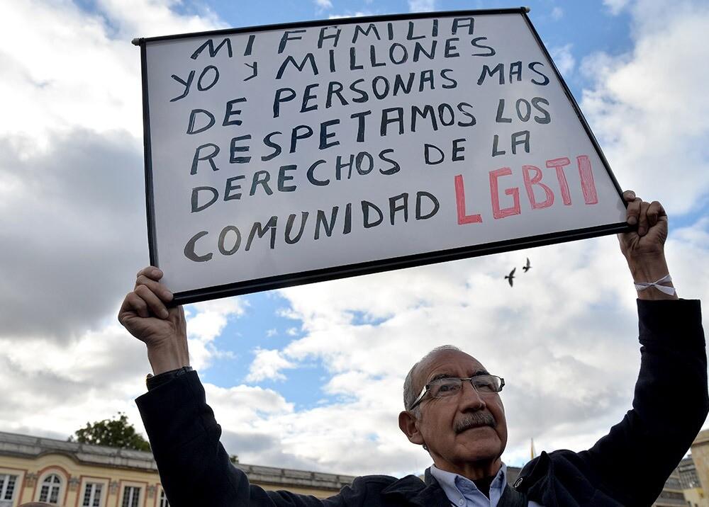 376668_Campaña de respeto por la comunidad LGBTI // Foto: AFP