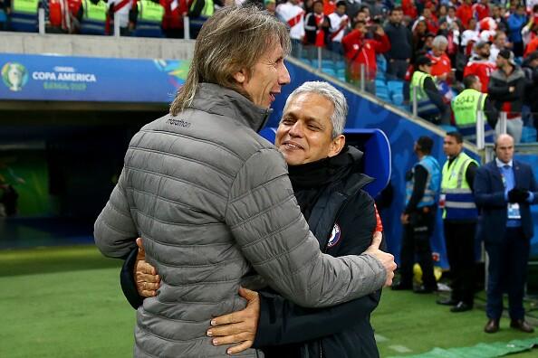 Ricardo Gareca y Reinaldo Rueda