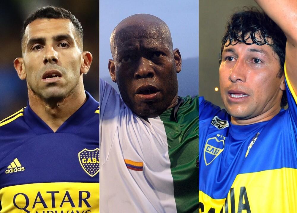 370245_Carlos Tevez, Tino Asprilla y Jorge Bermúdez / Fotos: AFP