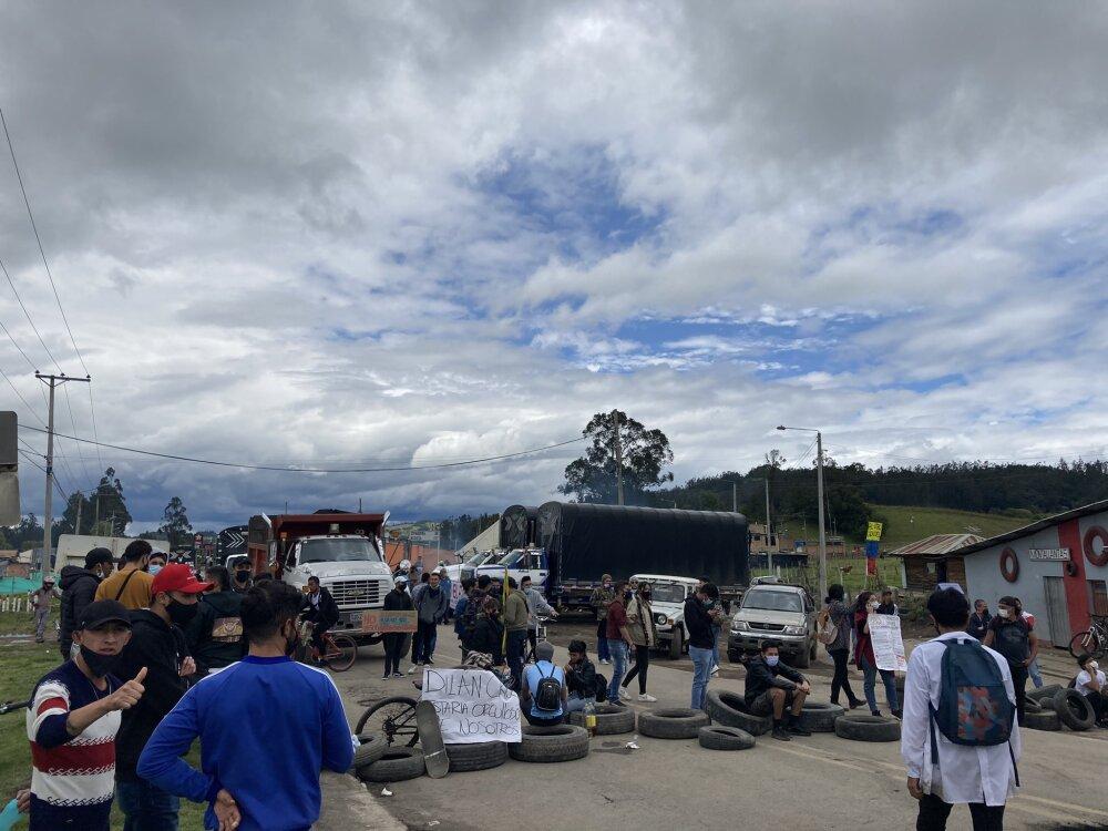Vías bloqueadas en Cundinamarca