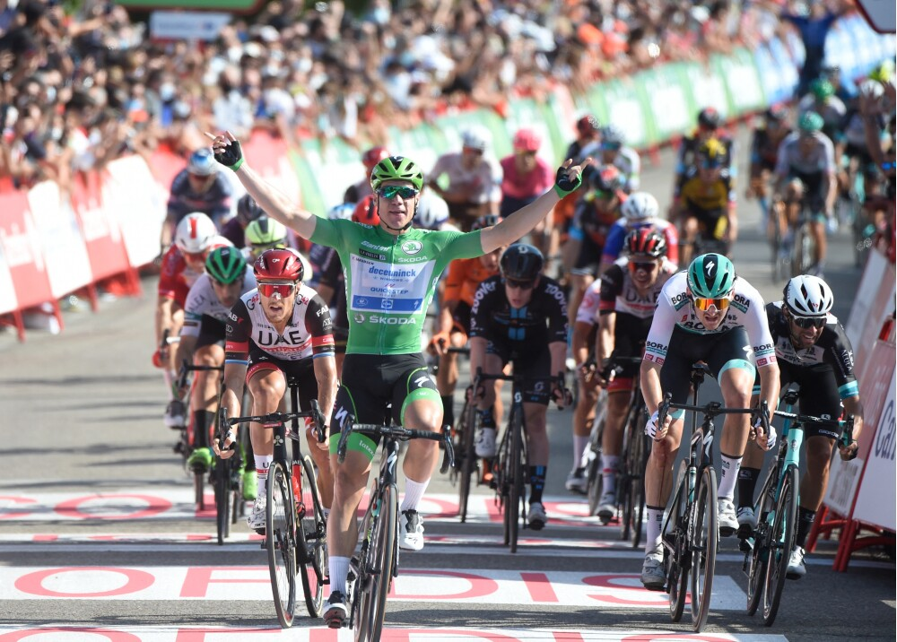 Fabio Jakobsen logra su tercera victoria en la Vuelta a España Foto AFP.jpg